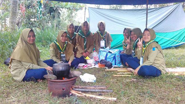 perkemahan hizbul wathan muhammadiyah boarding school santri perempuan mbs muhiba